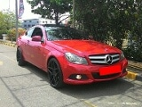 Foto Mercedes Benz C180(C200) CGI Coupe AT Red on Black