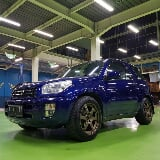 Foto Toyota rav4 3doors blue on black 2001