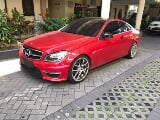 Foto Mercedes benz c180 coupe red on black m/t 2012
