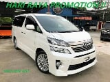 Photo 2013 Toyota Vellfire 2.4 z 8 seater facelift unreg
