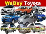 Photo We Buy Toyota used second hand Cars, Van, Pick-Up