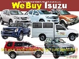 Photo We Buy Isuzu second hand Pick-Up and SUV
